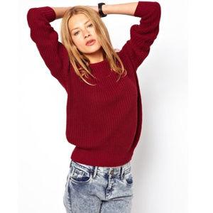 AMERICAN APPAREL | Burgandy Knit Sweater